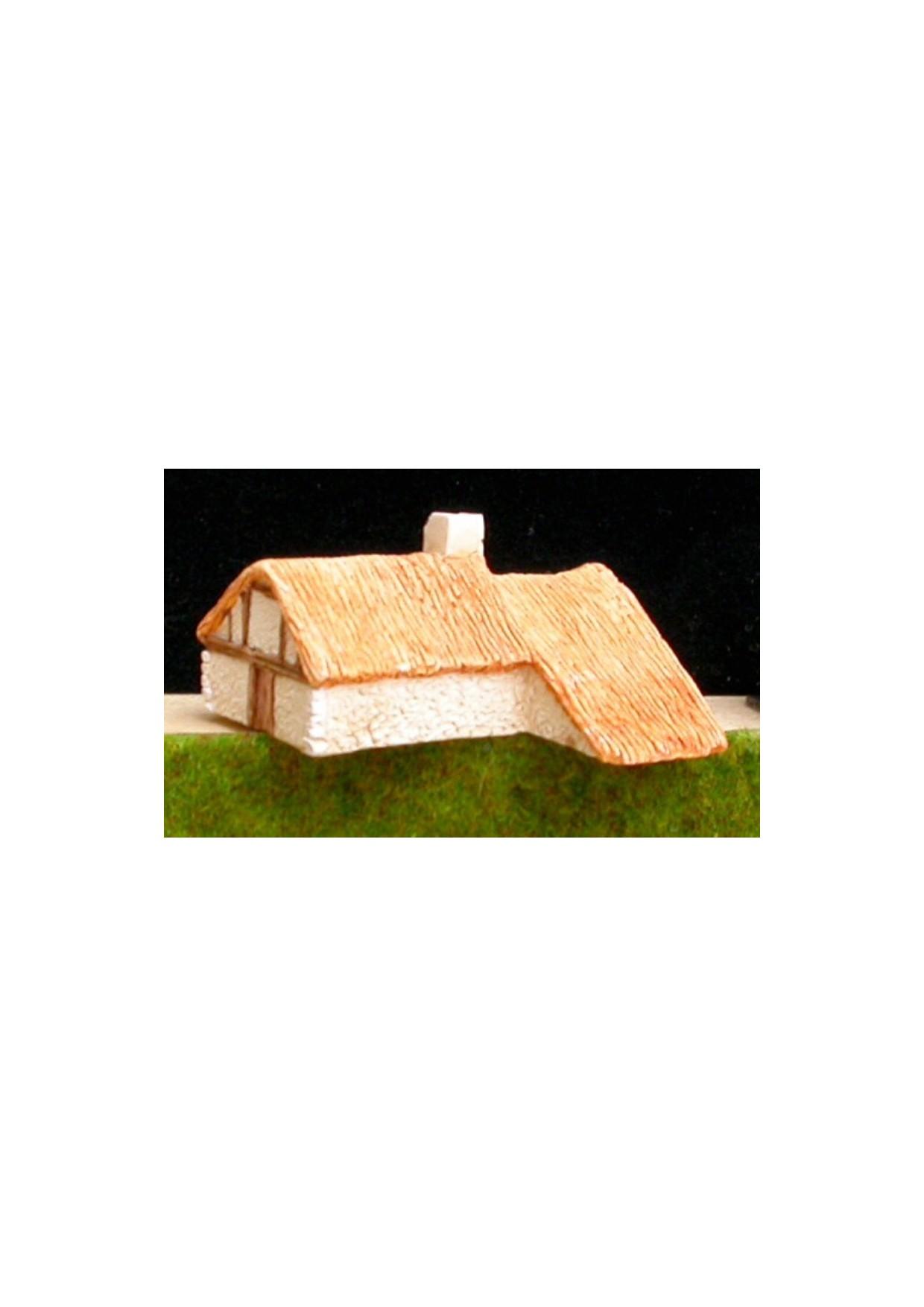 A1 Maison en torchis et toit de chaume
