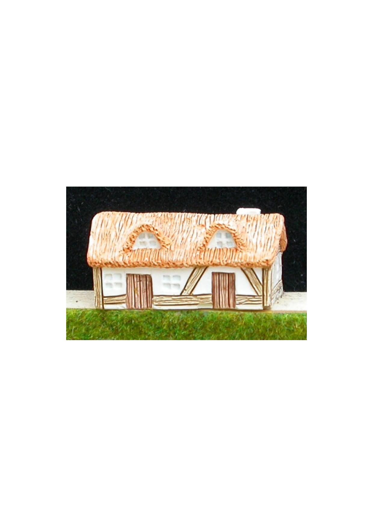 M2 Maison normande avec toit de chaume