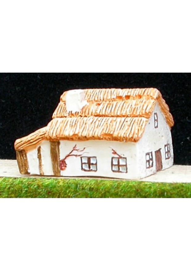 M3 Maison médiévale avec appentis et toit de chaume