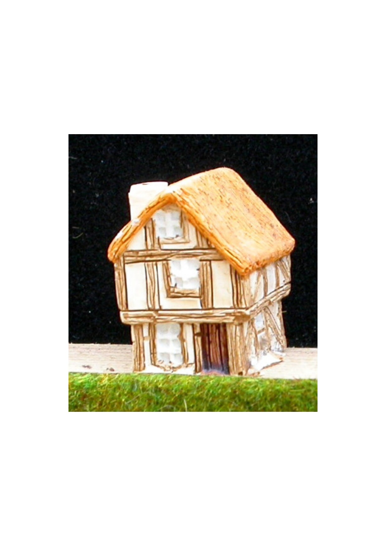 M5 Maison médiévale de 2 étages avec toit de chaume