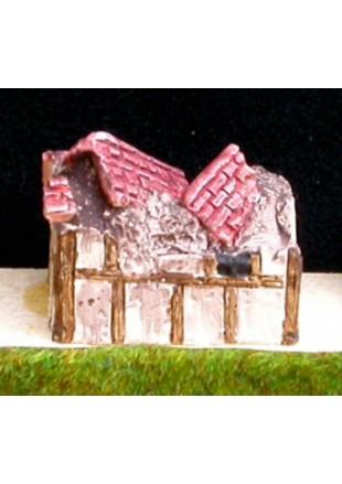 M11 Maison médiévale simple avec toit de tuiles ruinée