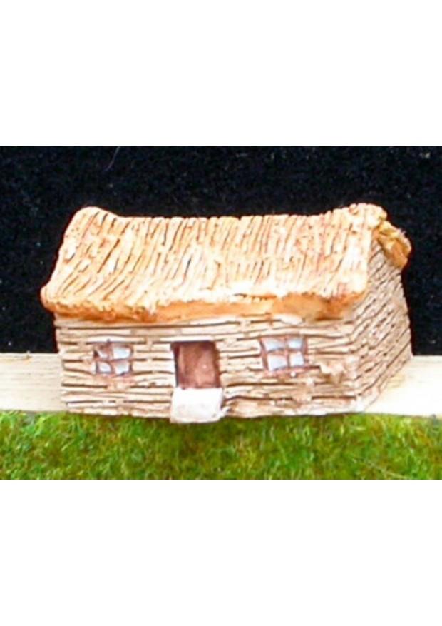 A4 Maison en bois et toit de chaume