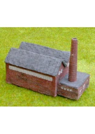 C7 Maison avec chien assis et toit de chaume