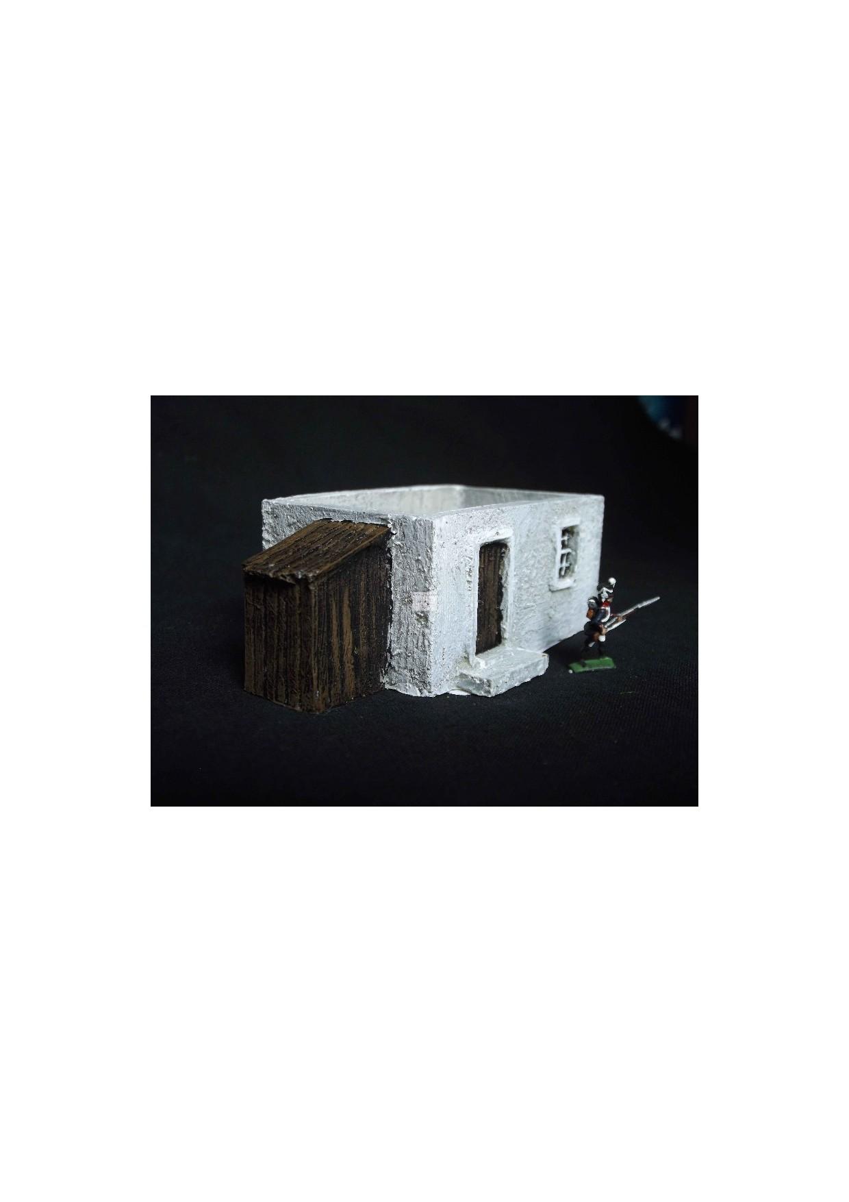 RUS4 Maison en bois avec appentis
