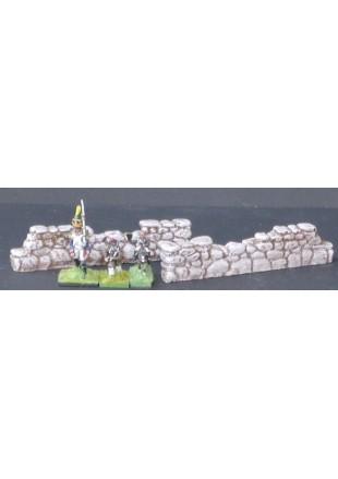MUR2 2 murs droits en pierre ruinés