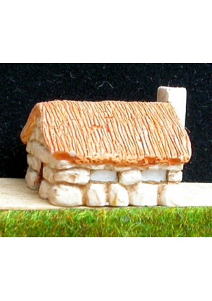 P1 Maison en pierre et toit de chaume